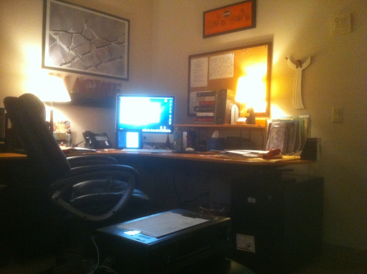 My workplace, where chaos is created and God uses my hands and feet.